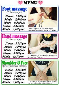 foot hand shoulder massage